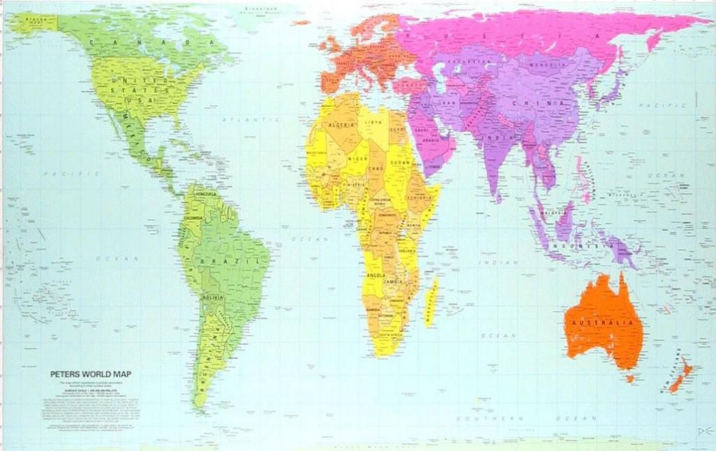Pogledajte pravu mapu svijeta oooo da - Papel pintado mapa del mundo ...